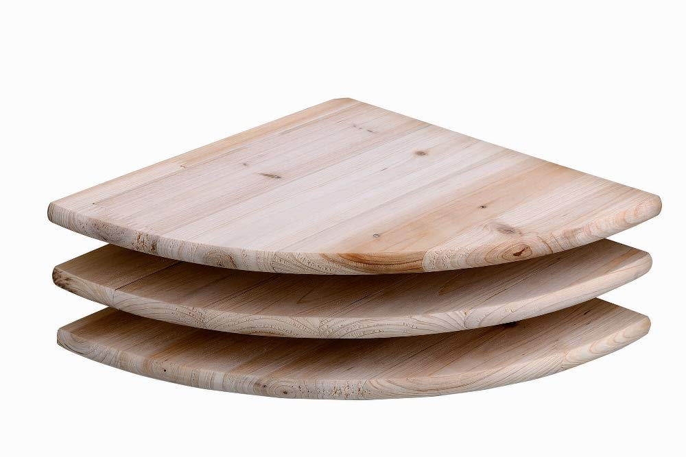 Core Products Corner Shelf Kit, Pack of 3, Sanded Timber CS112/3