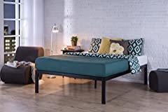 The extra strength steel framed Lorrick Quick Snap 18 Inch Platform Bed Frame/Mattress Foundation by Zinus features extra wooden slats that provide strong support for your memory foam, latex, or spring mattress. 18 inches high with 16 inches ...