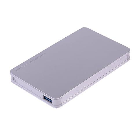 prettygood7 - Disco Duro Externo portátil para PC y Mac (aleación de Aluminio, USB