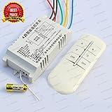 4 Way Remote Control Switch PVC, Wireless RF Radio Remote Control Switch for Light & Fan (BY TRP TRADERS)
