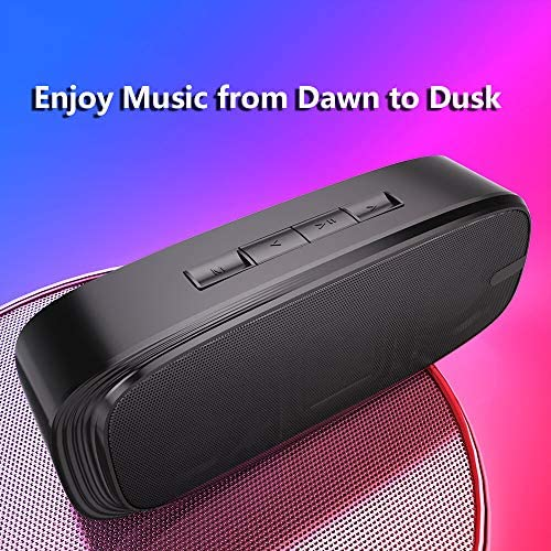 LENRUE Bluetooth Speaker, Wireless Portable Speaker with Loud Stereo Sound, Rich Bass, 12-Hour Playtime, Built-in Mic. Perfect for iPhone, Samsung and More 5145FbyBj3L