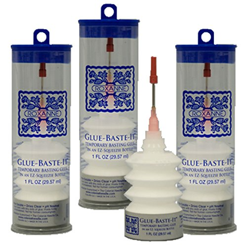 (3-Pack Bundle of Roxanne Glue Baste It EZ Squeeze 1 oz.)