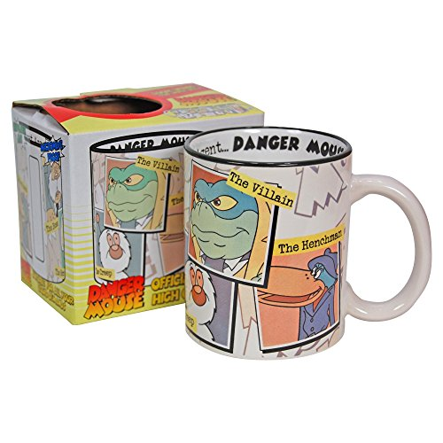 Danger Mouse Gift Boxed Mug. Classic 80s Dangermouse characters Greenback Penfold Colonel K(with free key (80s Characters)