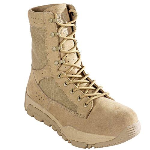 FREE SOLDIER Men's Outdoor Ultralight Breathable Military Desert Boots Tactical Duty Work Boot(Desert Tan 6)