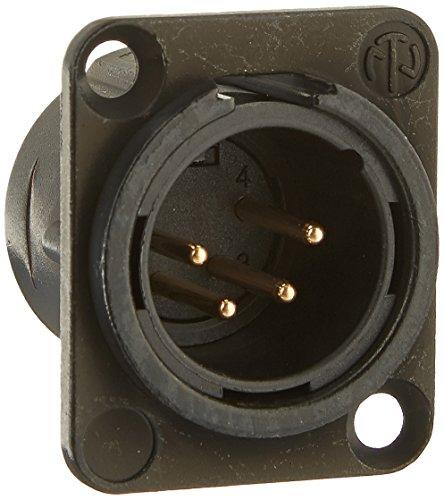 - Neutrik NC4MD-L-B-1 4-Pole Male Receptacle, Black/Gold Contacts