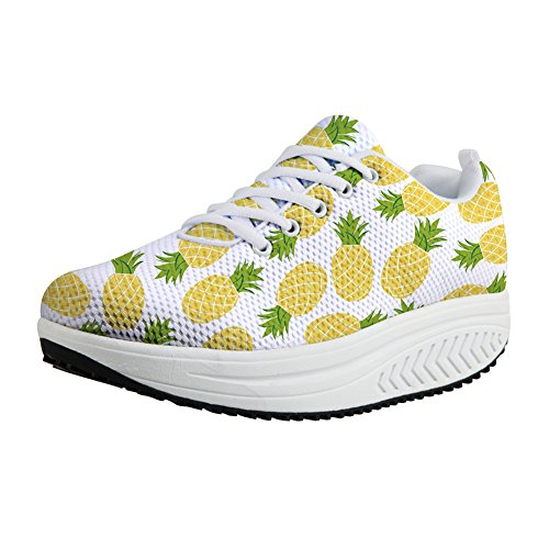 11 Comfortable Tennis Wedges Air Fitness DESIGNS Walking U US5 Casual Women's Pineapple 2 FOR Platform Lightweight Shoes Sneakers CqwSZZgx
