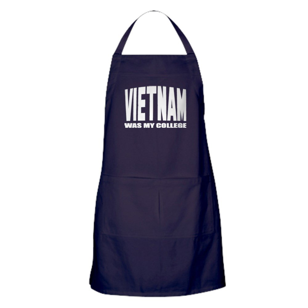 CafePress - Vietnam Was My College - Kitchen Apron with Pockets, Grilling Apron, Baking Apron