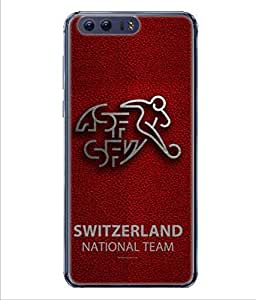 ColorKing Football Switzerland 09 Red shell case cover for Huawei P10