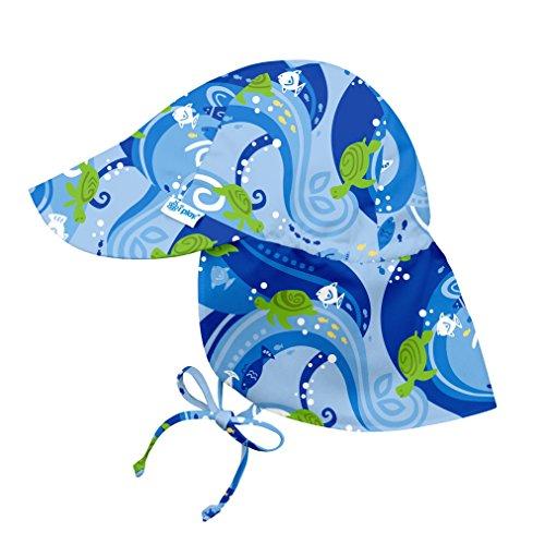 i play. Baby Boys' Flap Sun Protection Hat, Blue Turtle Batik, 9-18 Months