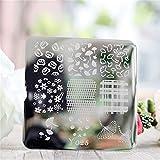 Nicole Diary Lotus Simple Flower Pattern Nail Art Stamp Template Image Plate