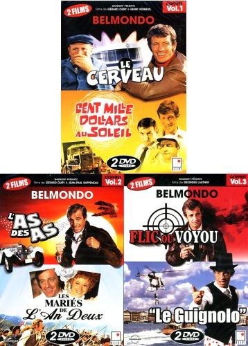 Belmondo - Vol 1,2,3: (3 pack) Le Cerveau/Cent Mille Dollars Au Soleil-L'As Des As/Les Maries De L'An Deux-Flic ou Voyou/Le Guignolo