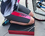 Pro Lift C-5006 Foldable EVA Mat - Anti Fatigue EVA Foam Sheet (6 fold) - Great for Garage, Picnicking, Gardening, Camping and Outdoor Activities, Black/Red
