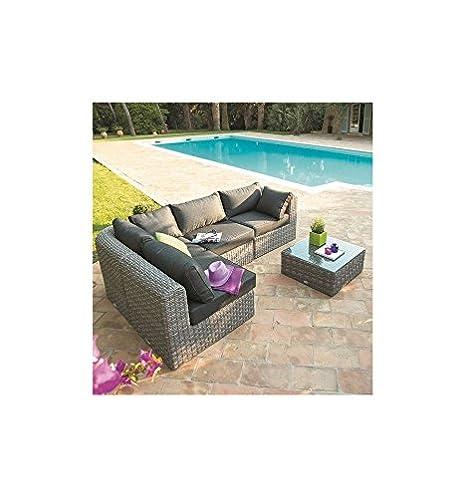 Salon de jardin - Salon de jardin Libertad Taupe - 4/5 ...