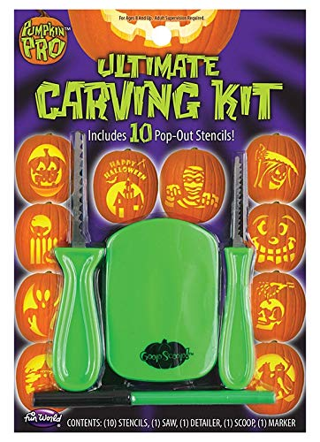 The Ultimate Pumpkin Carving Kit with 10 Pop-Out Stencils -