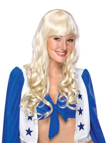 Secret Wishes Texas Cheerleader Long Blond Wig