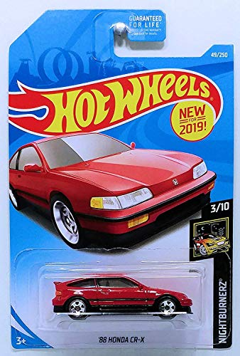 Hot Wheels 2019 Nightburnerz 3/10 - '88 Honda CR-X (Red)
