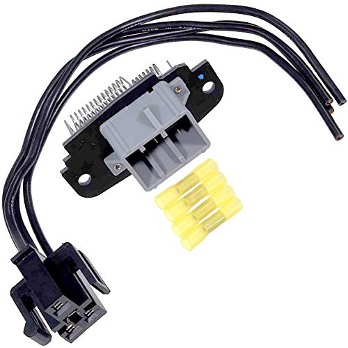 APDTY 084522 Blower Motor Speed Control Resistor & Wire Wiring Harness Pigtail Connector Fits Front AC & Heater 1995-2003 Ford Explorer 01-05 Explorer Sport Trac 95-10 Ranger 97-01 Mercury Mountaineer