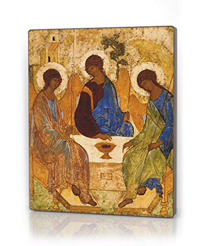 (The Holy Trinity Andrei Rublev. Сhristian Art. Religious Gifts for Women. Inspirational Wall Art Christian Decor. Confirmation and Wedding Gifts)