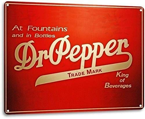 Tin Signs 2 Pack Dr Pepper Advertising Pop Soda Vintage Look Retro Wall Decor Bar Metal 16x12in