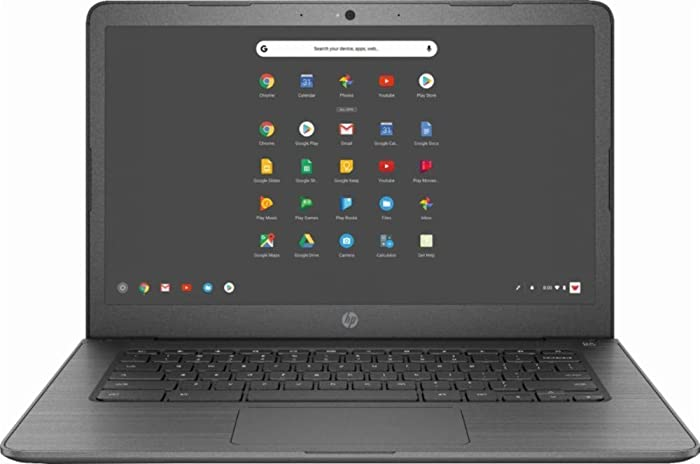 "2019 Newest HP 14"" Lightweight Chromebook-AMD A4-Series Processor, 4GB LPDDR4 RAM, 32GB SSD, WiFi, Chrome OS"