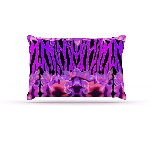 Kess InHouse Nina May Cezarra  Fleece Dog Bed, 50 by 60 , Pink Purple