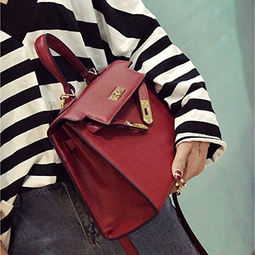 Epaule bandoulière main sac métal à de de Femme verrouillage sac Rouge sac fille de Kelly CHNHIRA qIHwPtWBgH