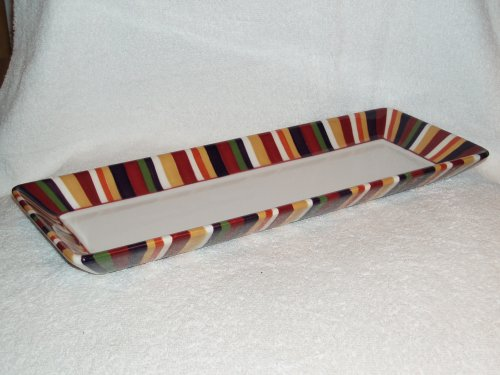 The Pampered Chef Simple Additions Striped Rectangle Platter