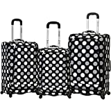 Rockland F180 Fusion Luggage Set, Black Dot, Medium, 3-Piece