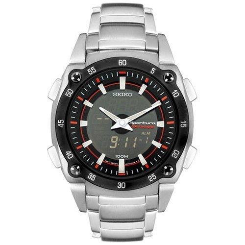 Seiko SNJ019P1 - Reloj de caballero de cuarzo con correa de acero inoxidable plateada - sumergible a 100 metros: Seiko: Amazon.es: Relojes
