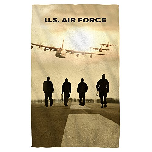 Air Force Long Walk Bath Towel White 27X52