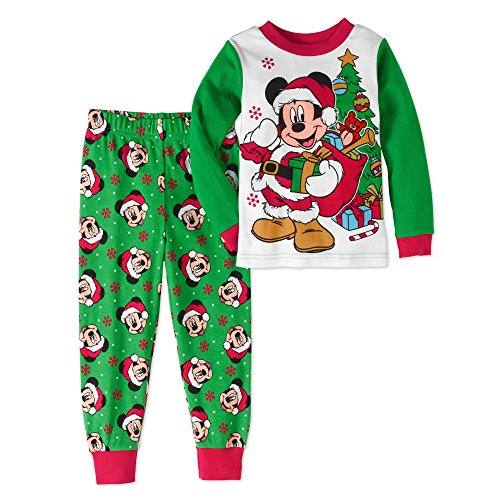 Disney Mickey Mouse Little Boys Toddler Christmas Pajama Set (2T)