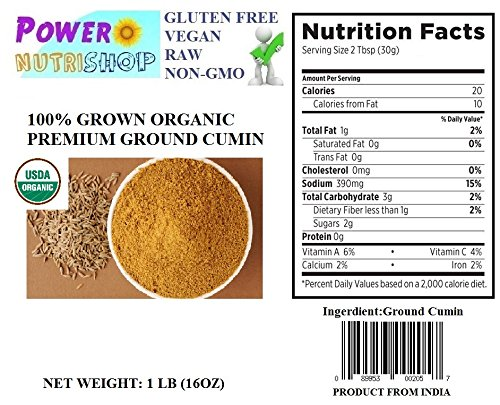 1 LB 100% All Natural GROWN ORGANICLLY Premium CUMIN SEEDS WHOLE/CUMIN GROUND POWDER INDIA ,Ground Powder Product from India