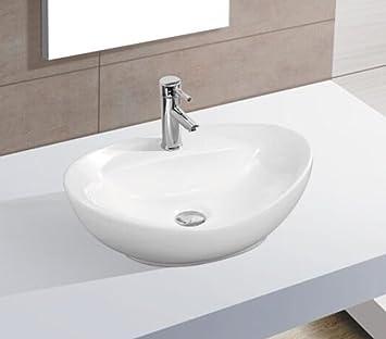 Waschbecken Klein keramikwaschbecken klein oval weiß aufsatz waschbecken keramik 40 5