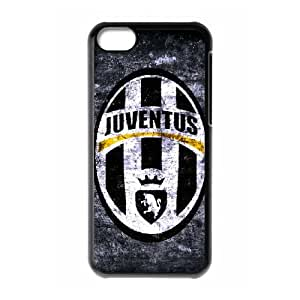 Personality iPhone 5C Protective Case Logo of Juventus Football Club Design Black Side Plastic Cover