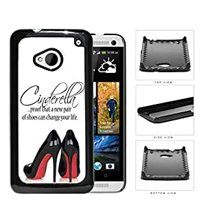 A New Pair Of Shoes Cinderella Quote Hard Plastic Snap On Cell Phone Case HTC One M7