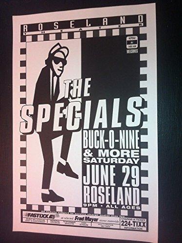 Specials Buck-O-Nine Punk Ska Reggae Rare Original Concert Tour Gig Poster from ConcertPosterArt