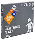 Safety Zone GDPE-XL High Density Clear Polyethylene PE Disposable Gloves, X-Large (Box of 100)