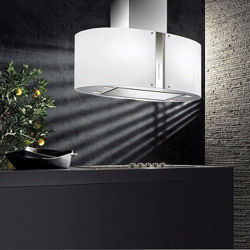 Falmec – Campana de isla a LED Pharo de cristal serigrafiada de 65 cm y potencia 800 M3/H: Amazon.es: Hogar