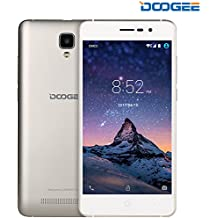 "Unlocked Smartphones, DOOGEE X10 GSM International Phone - 5.0"" IPS Display - Android 6.0 - 8GB ROM - 2MP+5MP Dual Camera - 3360mAh Battery - Dual Sim Unlocked Cell Phones - Gold(no ads)"