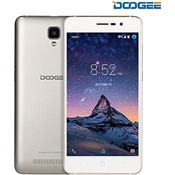 "Unlocked Smartphones, DOOGEE X10 GSM International Phone - 5.0"" IPS Display - Android 6.0 - 8GB ROM - 2MP+5MP Dual Camera - 3360mAh Battery - Dual Sim Unlocked Cell Phones - Gold(no ads)"
