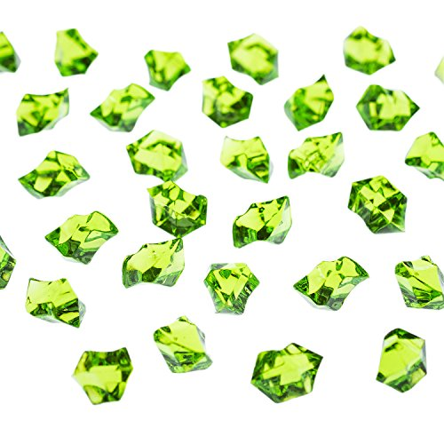 Decorating Ideas Wedding (Acrylic Color Ice Rock Crystals Treasure Gems for Table Scatters, Vase Fillers, Event, Wedding, Arts & Crafts, Birthday Decoration Favor (190 Pieces) by Super Z Outlet (Apple Green))