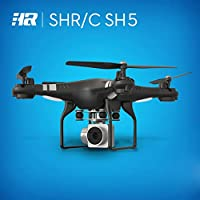 Ikevan Wide Angle Lens HD Camera Quadcopter RC Drone WiFi FPV Live Helicopter Hover (Black)