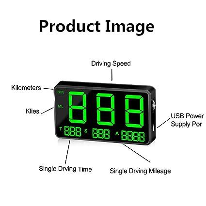 Kilometers To Mph >> Ritapreaty Speedometer C80 Digital Car Gps Speedometer Speed Display Km H Mph For Bike Motorcycle Car 150 X 59 X 16mm