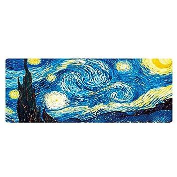 DGBAY Alfombrilla de Ratón Grande XXL Oficina y Gaming, Van Gogh-La Noche Estrellada