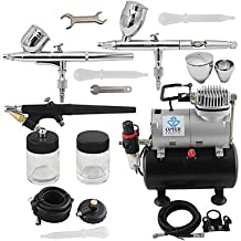 3-Airbrush Spray Gun Kits with Air Tank Compressor for Hobby Model Airplane Car Cake Decoration Makeup