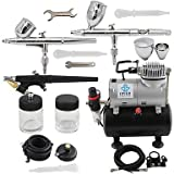 3-Airbrush Spray Gun Kits with Air Tank Compressor for Hobby Model Airplane Car Cake Decoration Makeup , 220v