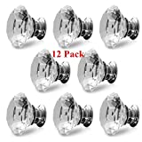 Cabinet Crystal Knob Door Handle Diamond Diameter 30mm Shaped Cupboard Handles Drawer Pulls Wardrobe Home Hardware,12 Pack