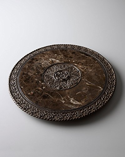 Marble Top Lazy Susan by GG Collection