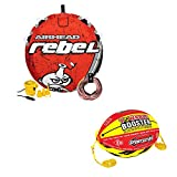 Airhead Rebel 1 Person Red Tube Kit & Airhead 4K Booster Ball Towing System