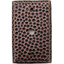 Classic Accents Hammered Antique Copper Single Gang Wall Plate - Cable